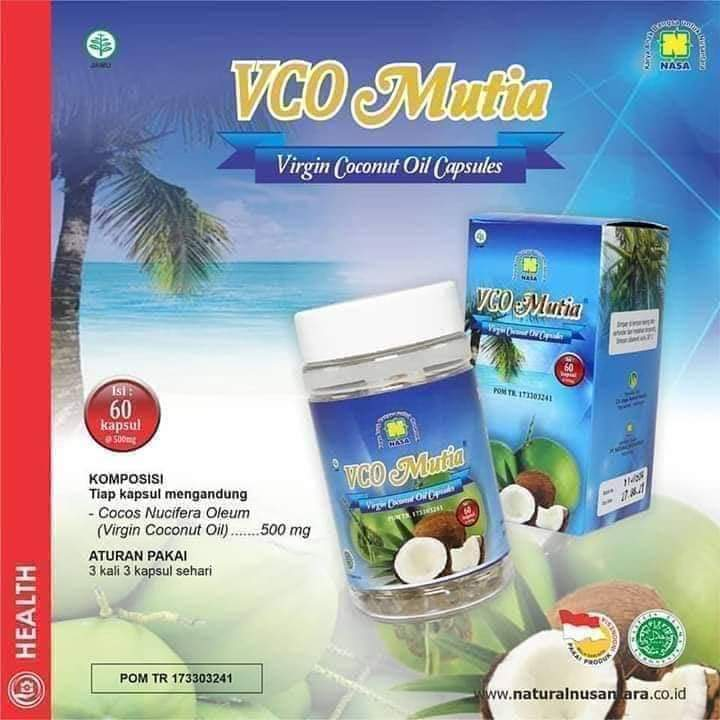 VCO Mutia Nasa – Virgin Coconut Oil Capsule Natural Nusantara