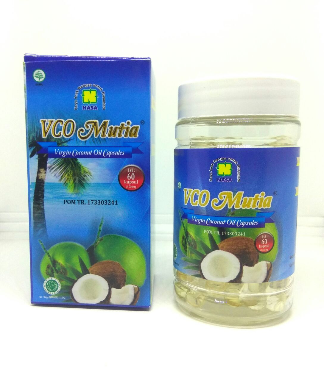 VCO MUTIA Virgin Coconut Oil Capsule Natural Nusantara